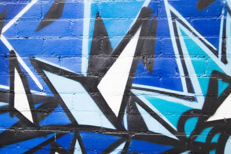 在砖的蓝色黑色