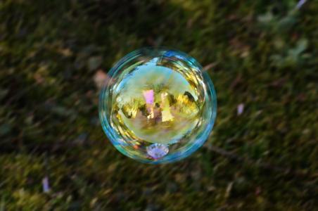 肥皂泡, 多彩, 球, 肥皂水, 让肥皂泡沫, 浮法, 镜像