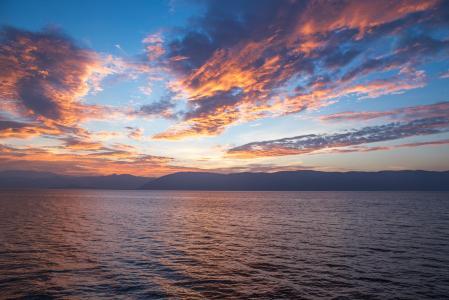 海滩, 云彩, 黎明, 黄昏, 自然, 海洋, 户外