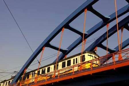 铁路, 高架桥, 火车, 设计, 桥梁, 铁, 牵引