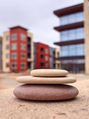 堆叠石头, 平衡, 石头, 弛豫, 岩石, 堆栈, 健康