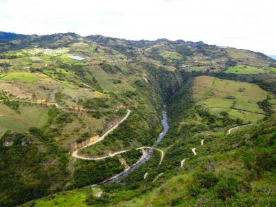 景观, 风景名胜, 哥伦比亚, 山脉, 山谷, 峡谷, 河