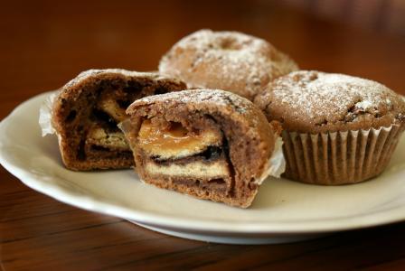 muffinka, 松饼, 纸杯蛋糕, 切 muffinka, 横断面的蛋糕, 的蛋糕, 甜点