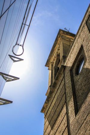 建筑, 伦敦, 建设, 摩天大楼, 新增功能, 老, 天空