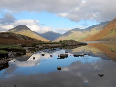 景观, 山脉, 自然, 户外, 反思, 河, 风景名胜