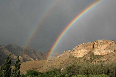 彩虹, 自然, 山, 天空, 赛季, 谱, 景观