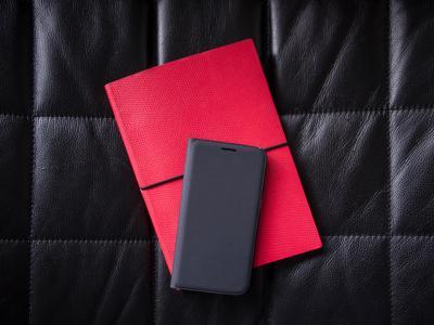 黑色, 皮革, 电话, 案例, 笔记本, 红色, 日记