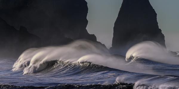 海滩, 太平洋海岸线, 海洋, 海岸, 太平洋, 海, 海景