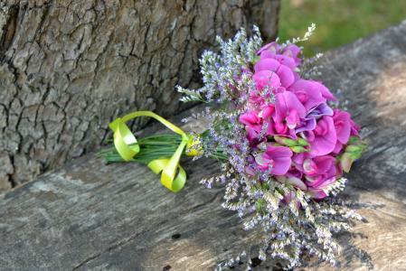 香豌豆香, 花束, 黧豌豆, 一小束, 粉色, 花, 自然
