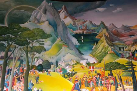 绘画, 高山, 科莫湖, 巴巴罗萨, 帝国盾, 伦巴第大区, 铁冠