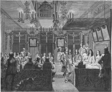 宴会, 国王, 绘画, 图稿, 历史, 博物馆, 图像