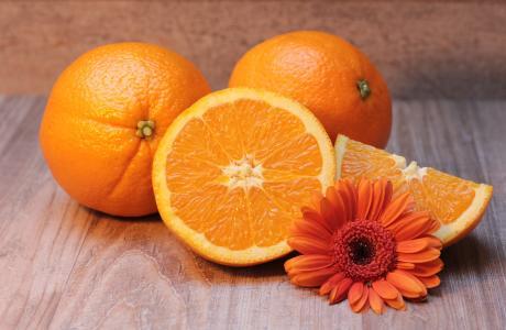 橙色, 柑橘类水果, 水果, 健康, 维生素 c, 弗里施, 一半