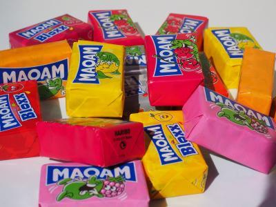 maoam, 耐嚼糖果, 甜蜜, 糖, 糖果, 颜色, 多彩