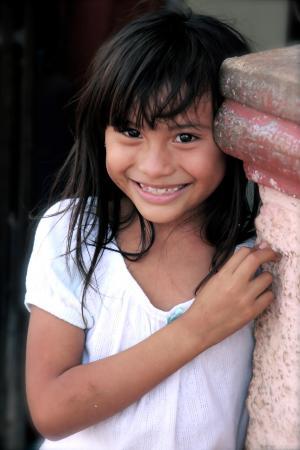 女孩, 儿童, 微笑, 快乐, 无家可归的人, 流浪