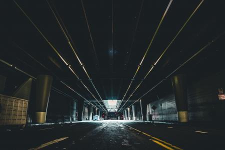 建筑, 模糊, 桥梁, 建设, 城市, 黑暗, 市中心