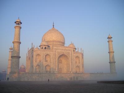 印度, 阿格拉, 墓, 坟墓, 日出, 寺, 泰姬陵