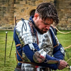 马上, 骑士, 盔甲, 中世纪, 军事, 剑, 老