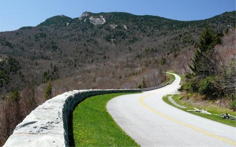 公路, blue ridge 大道, 弗吉尼亚州, 风景名胜, 自然, 美国路, 雪