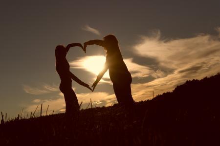 心, 友谊, 爱, 永恒, 信任, 感觉, 手