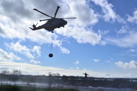 直升机, 剪影, 军事, 运输
