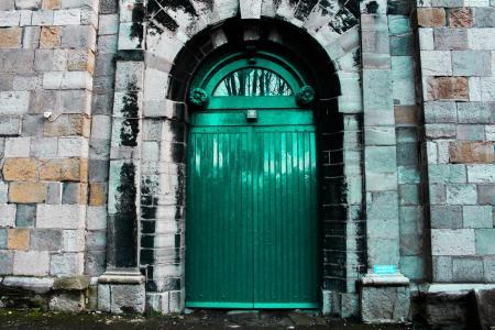 绿色城堡门建筑