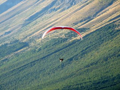 降落伞, 滑翔伞, 极限运动, 体育, 风, 山, 引导风筝航行