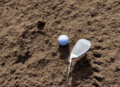 沙子, 高尔夫, 沙坑, 陷阱, 体育, 课程, 俱乐部