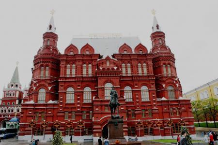 红色大厦, windows, 银色屋顶, 塔和尖顶, 历史, 建筑, 博物馆