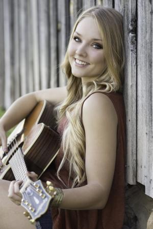 吉他, 美丽, 微笑, 音乐, 文书, 女孩, 快乐