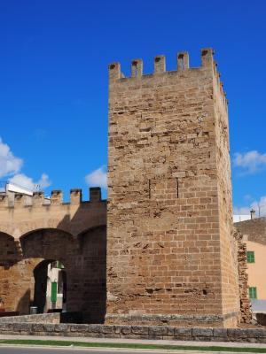 城门, 塔, 防御塔, 墙上, 圣赛巴思, 马略卡岛门, 贝尼多姆