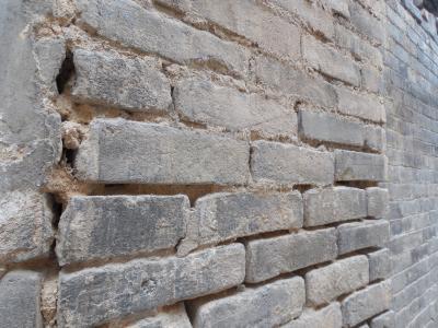 砖, 墙上, 村庄, 灰色, 老, 农村