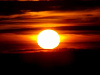 日落, 太阳, 云计算, 天空, 在晚上, 橙色