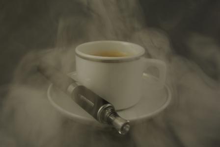 咖啡, 特浓咖啡, 蒸汽, e 香烟, 杯, 饮料, 热-温度