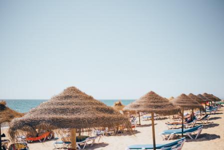 青草沙滩伞