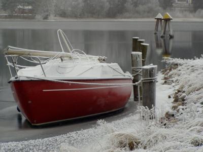 帆船, 小船, 冬天, 航海的船只, 自然, 户外
