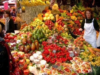 市场, 水果, 蔬菜, 健康, 水果, 食品, 水果摊