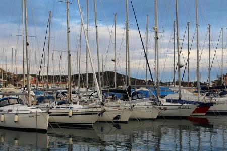 端口, 帆船, 桅杆, 克罗地亚