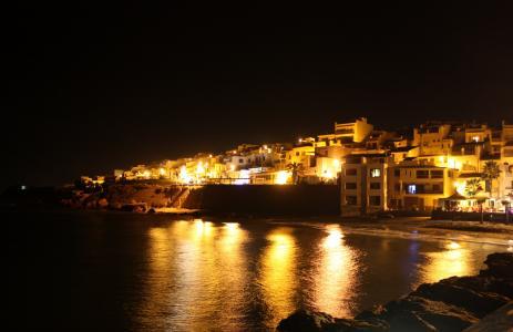 这些, 西西里岛, 晚上, 国家, 房屋, marinaro, 海事村