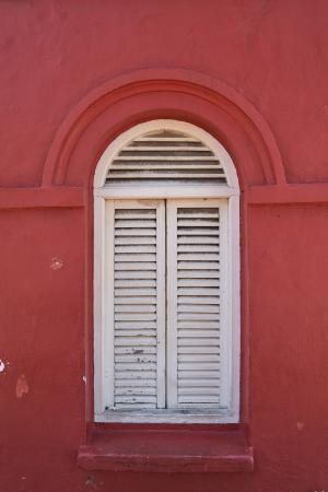 窗口, 白色, 红色, 房屋, 关于, 老, 组成