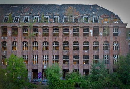 丢失的地方, 工厂, pforphoto, 涂鸦, 老, 离开, 工业厂房