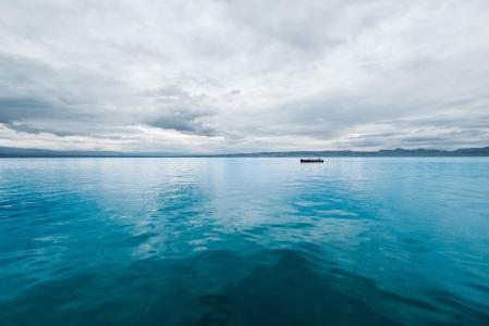 蓝色, 小船, 景观, 自然, 海洋, 户外, 海