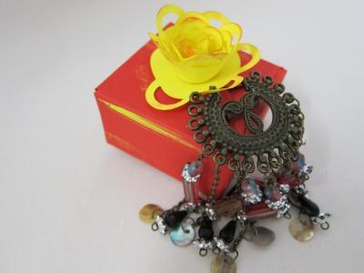 珠宝首饰, 乡村, 礼品盒, 上升, 纸玫瑰, 莲座丛, 点缀