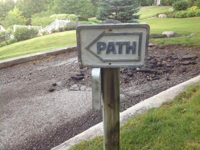标志, 路径, 发布, 道路