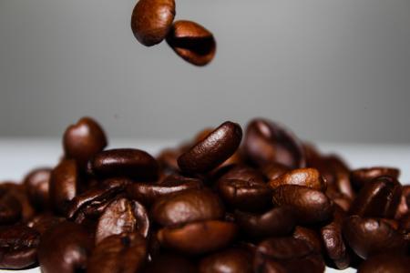 咖啡, 咖啡豆, 下降, 食品, 重力, 慢动作