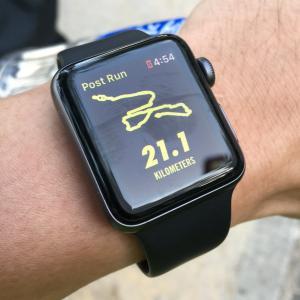 手表, 运行, 半程马拉松赛, 半程马拉松赛, 运行, 地图, 显示