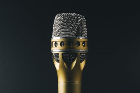 音频, 经典, 黄金, 金属, 麦克风, 麦克风, 声音录制