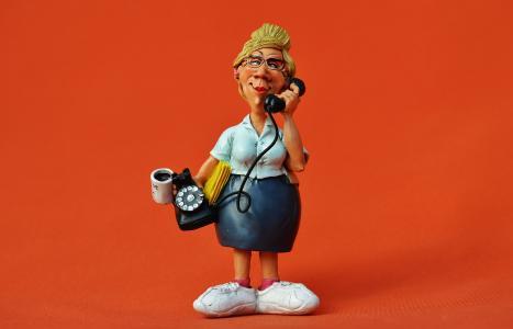 秘书, 办公室, 电话, 附表, 调用, 文件, 通信