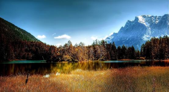 湖白湖, 蒂罗尔, 奥地利, 山脉, 提洛尔阿尔卑斯山, 水, bergsee