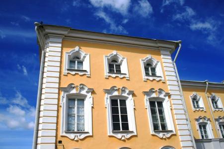 宫, 建设, 建筑, 白杏, 装饰, 蓝蓝的天空