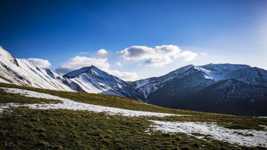 冒险, 蓝色, 爬上, 云彩, 感冒, 夏时制, 冰川